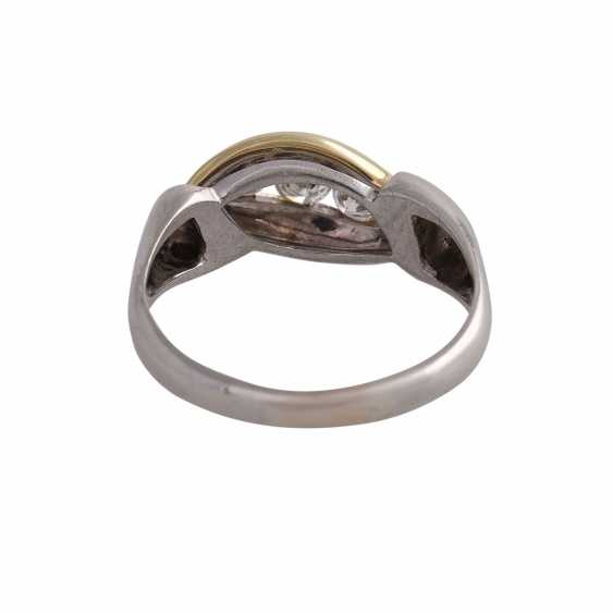Ring with 5 diamonds, approx 0.5 ct, WHITE (H)/ VS-VVS, - photo 4