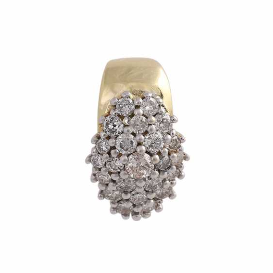 Clip pendant with brilliant-cut diamonds, together approx. 1 ct - photo 1