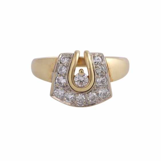 Ring with 12 diamonds together approx 0,57 ct - photo 1