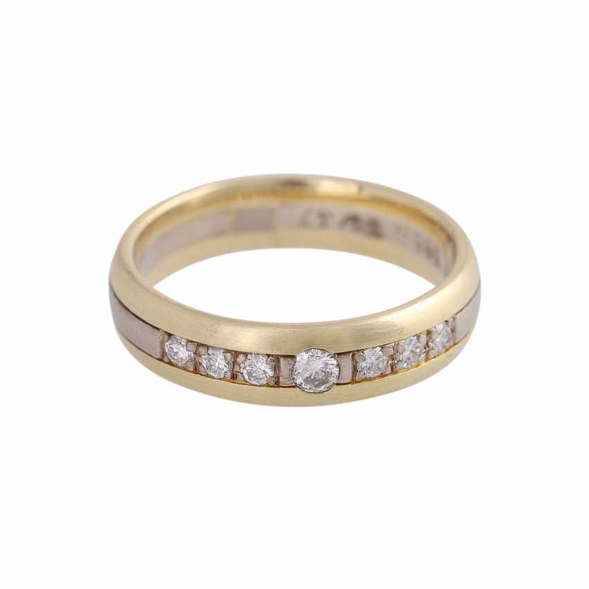 CHRISTIAN BAUER Ring with 7 brilliant-cut diamonds together approximately 0.22 ct. - photo 1