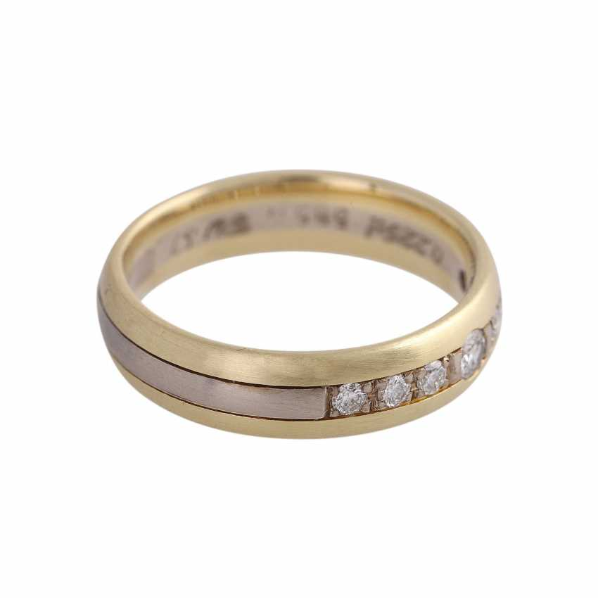 CHRISTIAN BAUER Ring with 7 brilliant-cut diamonds together approximately 0.22 ct. - photo 2