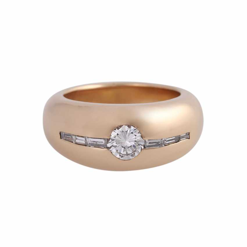 Ring with a Central brilliant of CA. 0,65 ct, - photo 1