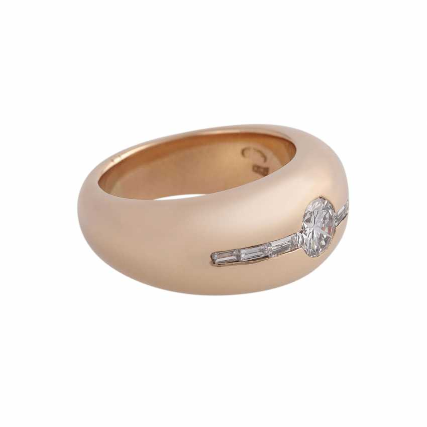 Ring with a Central brilliant of CA. 0,65 ct, - photo 2