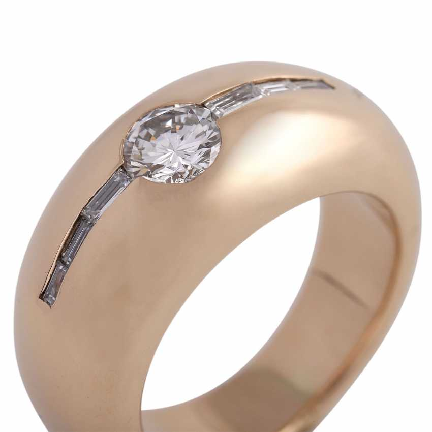Ring with a Central brilliant of CA. 0,65 ct, - photo 5