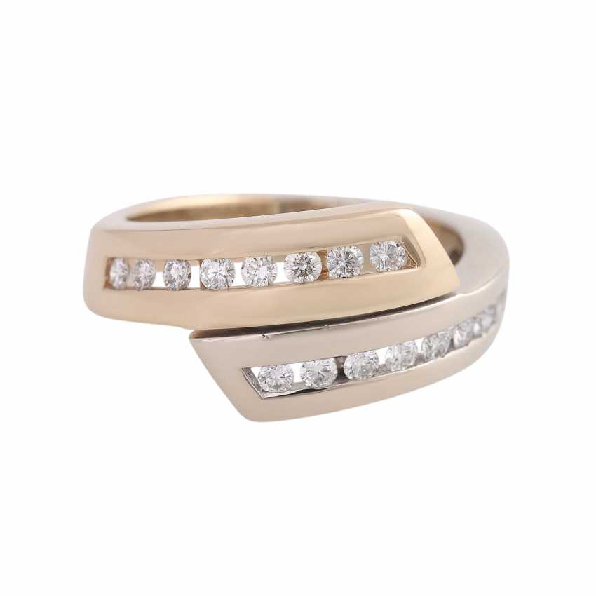 Ring with brilliant-cut diamonds approx 0,32 ct - photo 1
