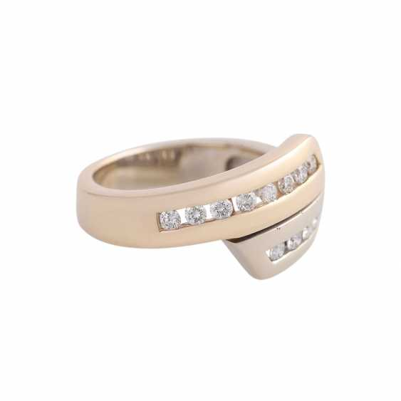 Ring with brilliant-cut diamonds approx 0,32 ct - photo 2