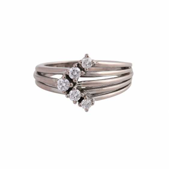 Ring with brilliant-cut diamonds approx 0,24 ct - photo 1