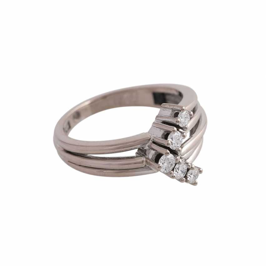 Ring with brilliant-cut diamonds approx 0,24 ct - photo 2