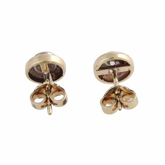 Stud earrings with 1 diamond, approximately 0.3 ct, - photo 4