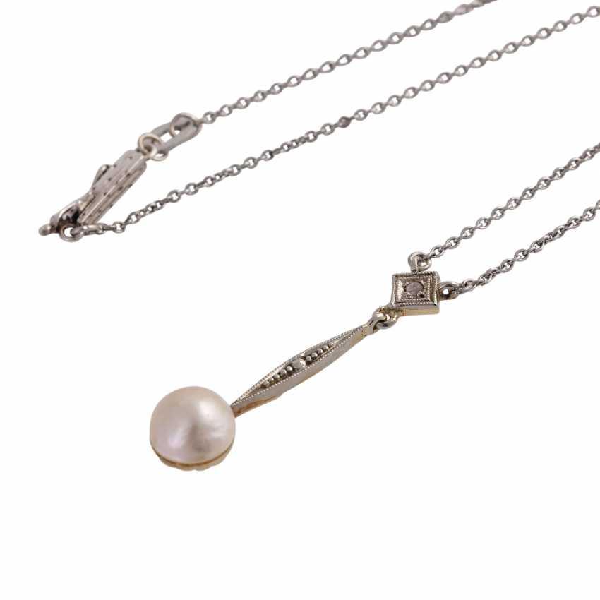 Art Deco, zierliches Necklace, - photo 4