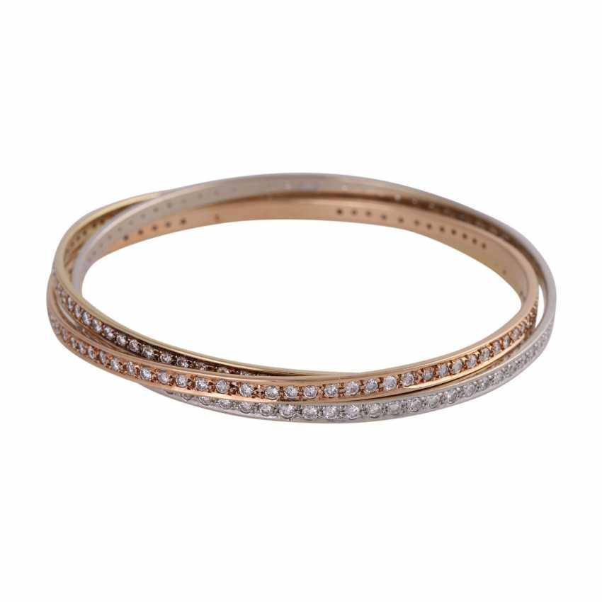 Bangle bracelet 3-piece set with 236 brilliant-cut diamonds, together approx 5 ct, - photo 1