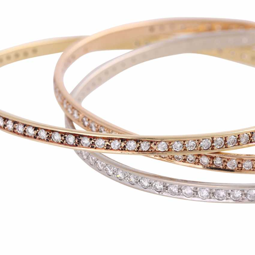 Bangle bracelet 3-piece set with 236 brilliant-cut diamonds, together approx 5 ct, - photo 5