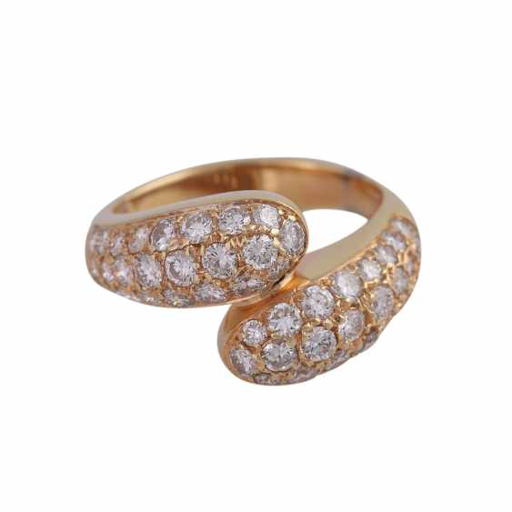 Ring studded with brilliant-cut diamonds, approximately 0.8 ct, - photo 1