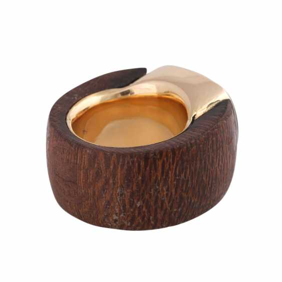 Ring made of wood with tiger's eye - photo 3