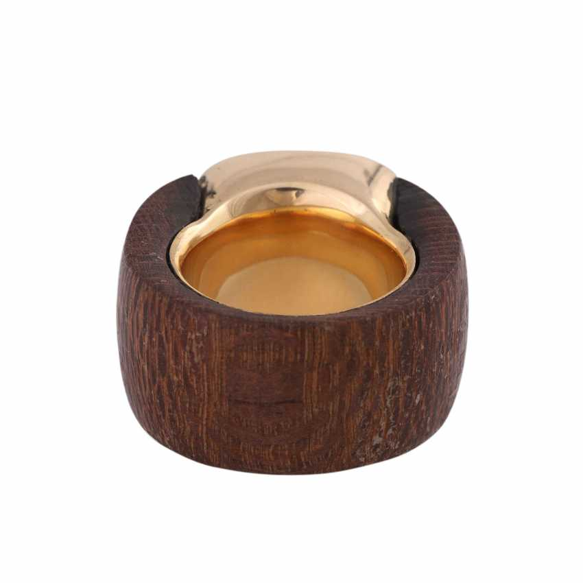 Ring made of wood with tiger's eye - photo 4