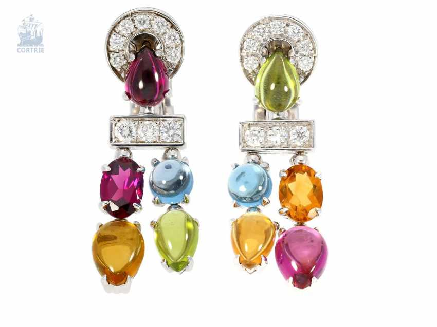 83cad0adc Earrings: high quality, Italian design jewelry by Bvlgari, hand-crafted  diamond/