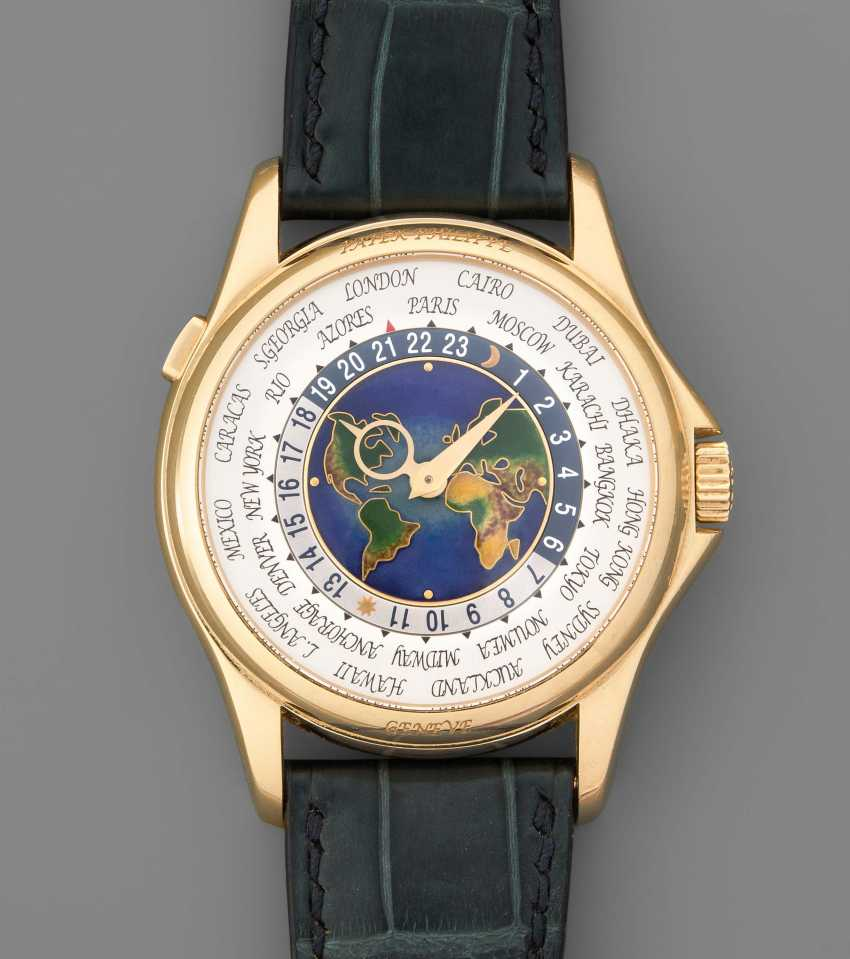 Patek Philippe world time watches with handmade enamel Cloisonne dial - photo 1