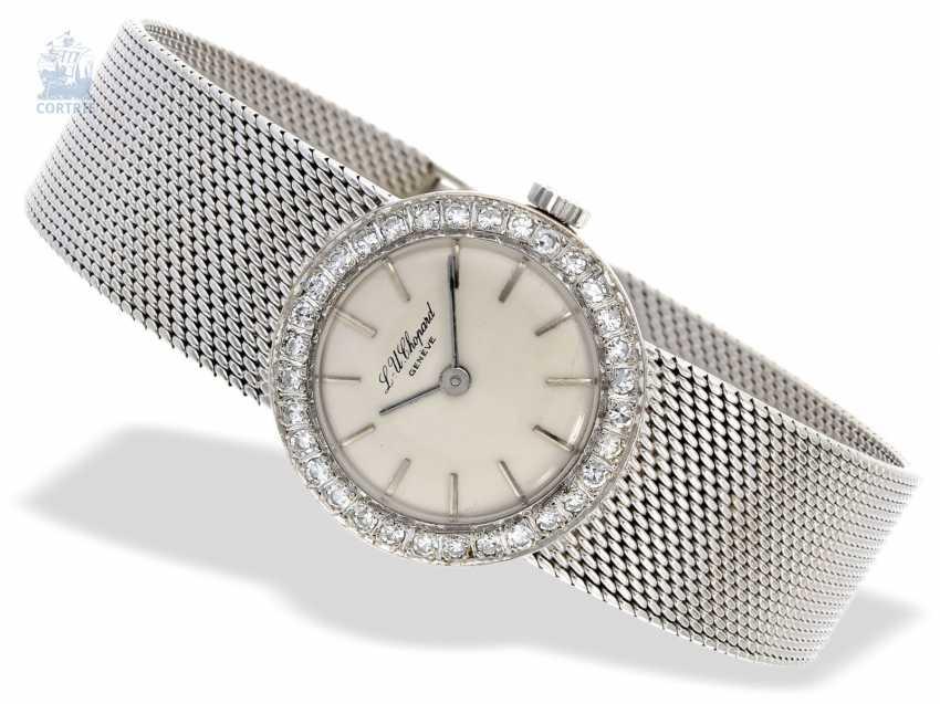 Watch: white gold vintage ladies watch from Chopard, high quality diamond bezel, a little worn,18K Gold - photo 1