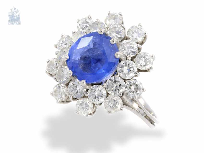 Ring: high-quality vintage sapphire/brilliant ladies ring, approx. 4,7 ct - photo 1