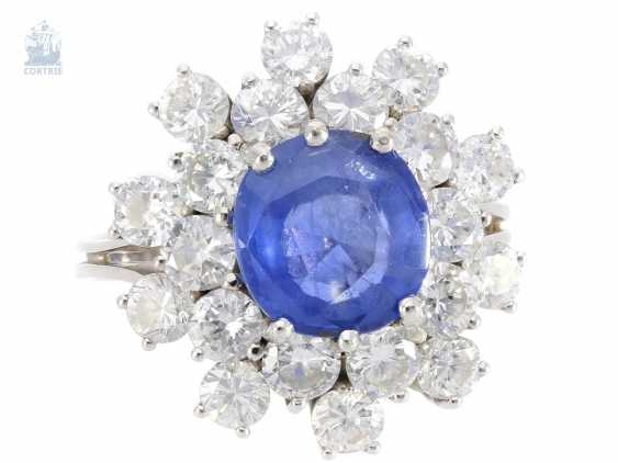 Ring: high-quality vintage sapphire/brilliant ladies ring, approx. 4,7 ct - photo 2