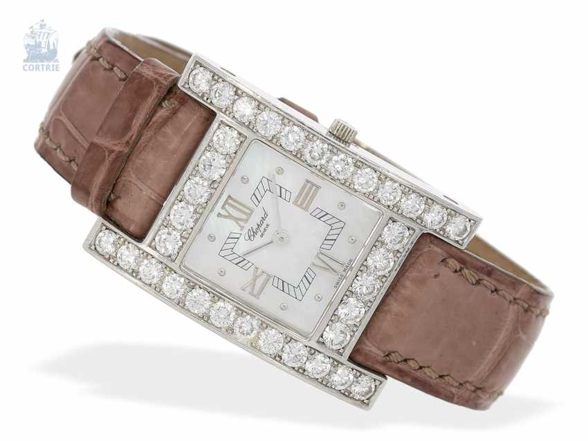 "Watch: elegant and extremely high quality luxury watch brand Chopard ""YOUR HOUR"" with the highest quality, brilliant finishing, 18K white gold, Ref. 13/6621 - photo 1"