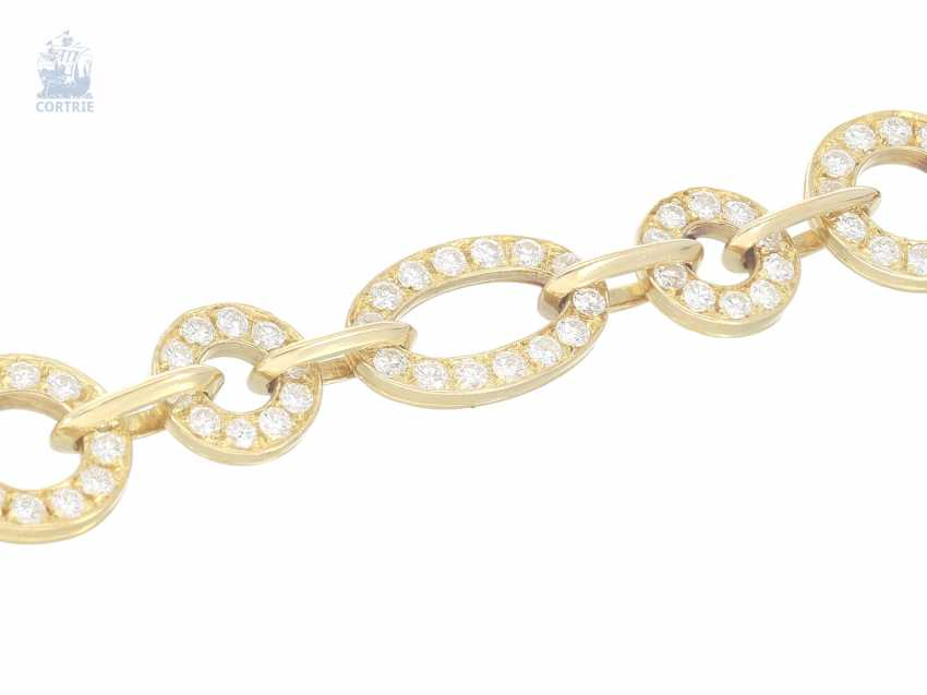 Chain/necklace: intricately crafted, exclusive vintage gold wrought necklace with a rich, brilliant trim, approx. 10ct finest diamonds, hand made,18K yellow gold - photo 2