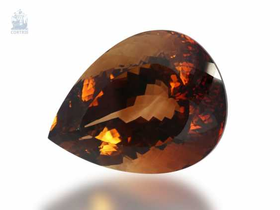Stones: a loose, drop-shaped, and exceptionally large, untreated Topaz from 340,62 ct - photo 1
