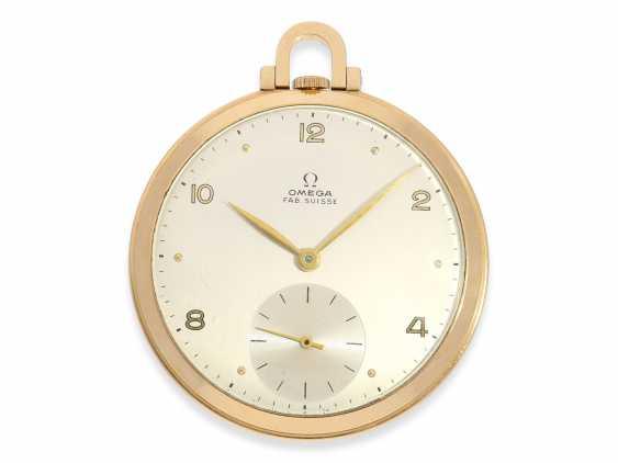 Карманные часы: крайне редкая арт деко Frackuhr Омега в 18-каратного розового золота, калибр T 37.5 / 17 P, 1945. - фото 1