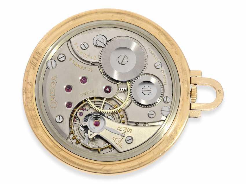 Карманные часы: крайне редкая арт деко Frackuhr Омега в 18-каратного розового золота, калибр T 37.5 / 17 P, 1945. - фото 2