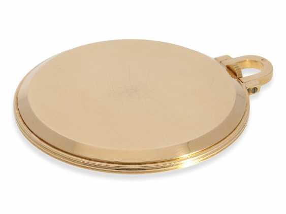 Карманные часы: крайне редкая арт деко Frackuhr Омега в 18-каратного розового золота, калибр T 37.5 / 17 P, 1945. - фото 4