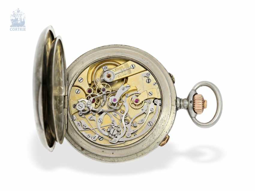 Pocket watch: rare Observation chronometer with split seconds Chronograph, Longines for August Ericsson, St. Petersburg, CA. 1910 - photo 2