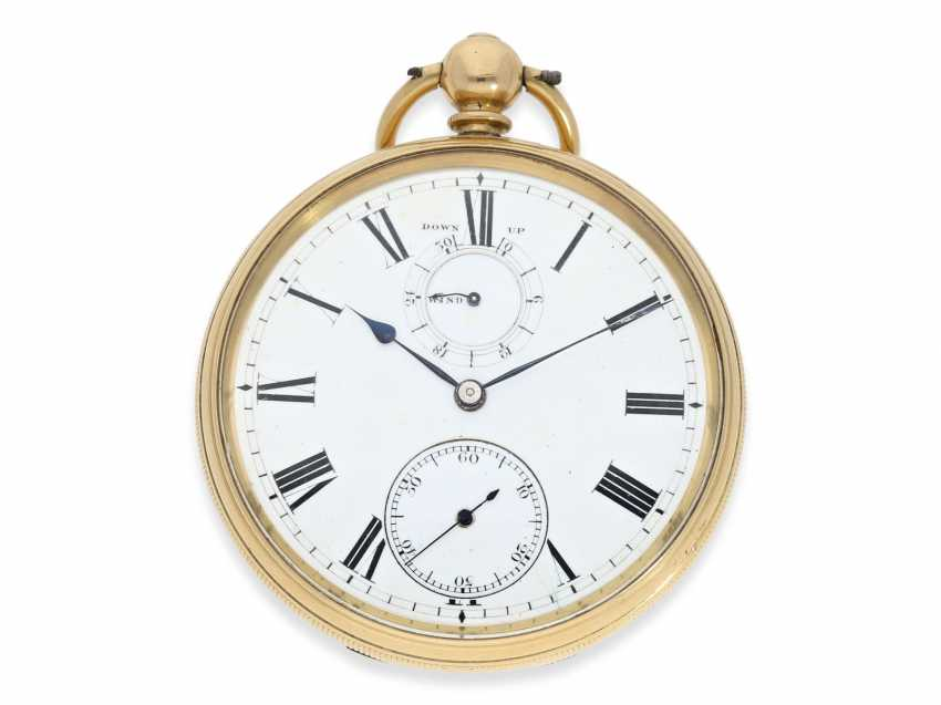 Pocket watch: rare English precision pocket watch with power reserve indicator, London 1871 - photo 1