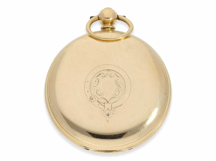 Pocket watch: rare English precision pocket watch with power reserve indicator, London 1871 - photo 2