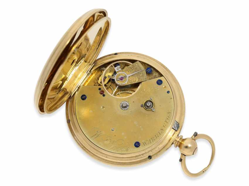 Pocket watch: rare English precision pocket watch with power reserve indicator, London 1871 - photo 3