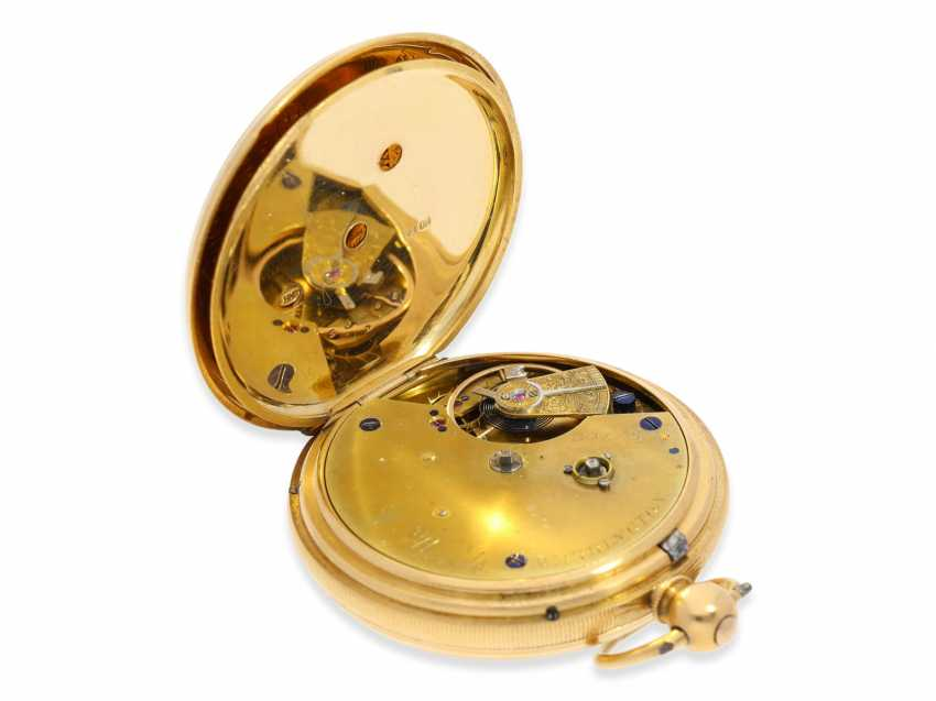Pocket watch: rare English precision pocket watch with power reserve indicator, London 1871 - photo 4