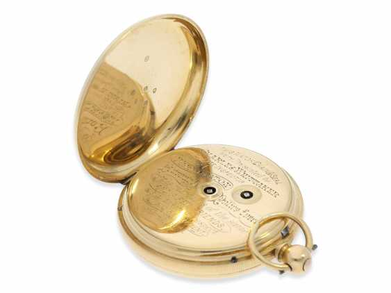 Pocket watch: rare English precision pocket watch with power reserve indicator, London 1871 - photo 5