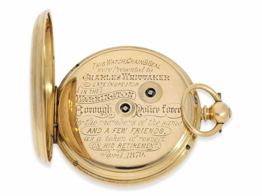 Pocket watch: rare English precision pocket watch with power reserve indicator, London 1871 - photo 6