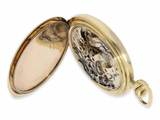 """Taschenuhr: hochwertiger Longines Chronograph """"Compteur"""" im Savonnettegehäuse, ca.1932 - Foto 7"""