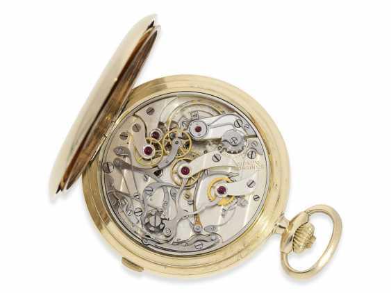 """Taschenuhr: hochwertiger Longines Chronograph """"Compteur"""" im Savonnettegehäuse, ca.1932 - Foto 8"""