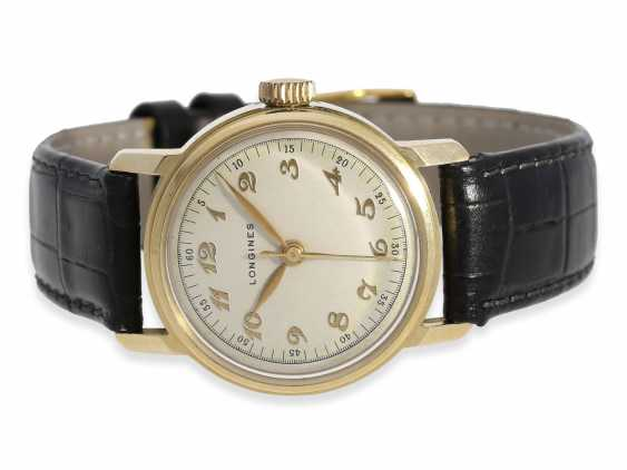 "Watch: early, early, early, gold, Longines men's watch with Central second, type ""Officier"", 40s - photo 1"