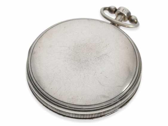 Pocket watch: large skeletonized hammer mechanism pocket watch, No. 9779, probably Switzerland, CA. 1820 - photo 2