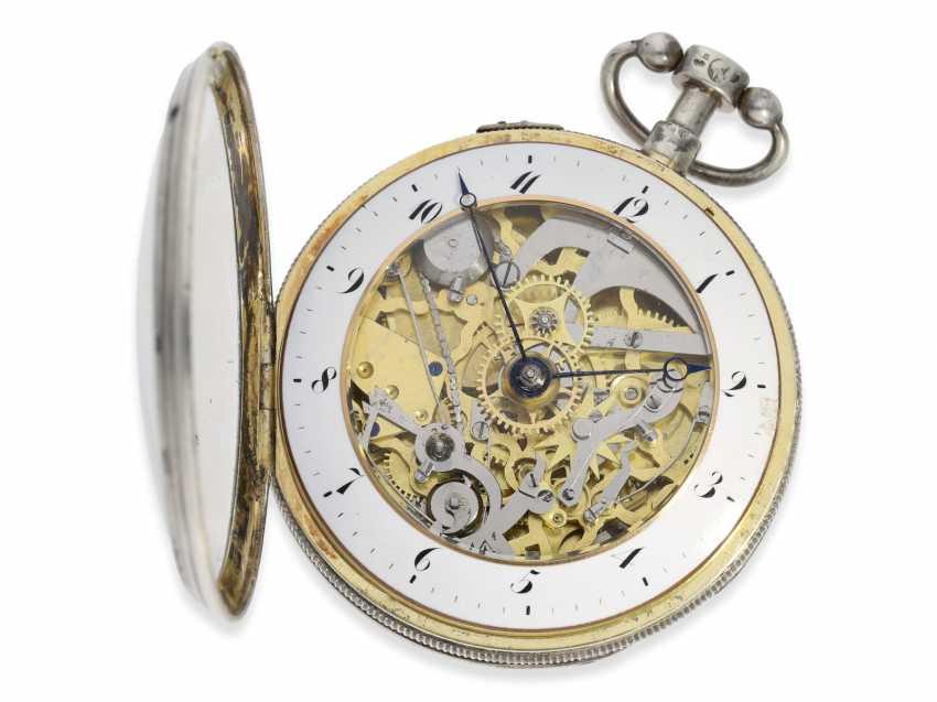 Pocket watch: large skeletonized hammer mechanism pocket watch, No. 9779, probably Switzerland, CA. 1820 - photo 3