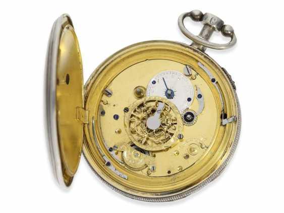 Pocket watch: large skeletonized hammer mechanism pocket watch, No. 9779, probably Switzerland, CA. 1820 - photo 4