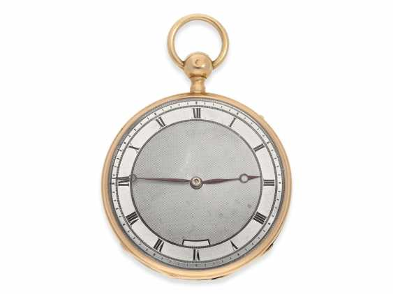 Pocket watch: red-gold Lepine with quarter-hour-Repetition, France around 1820 - photo 1
