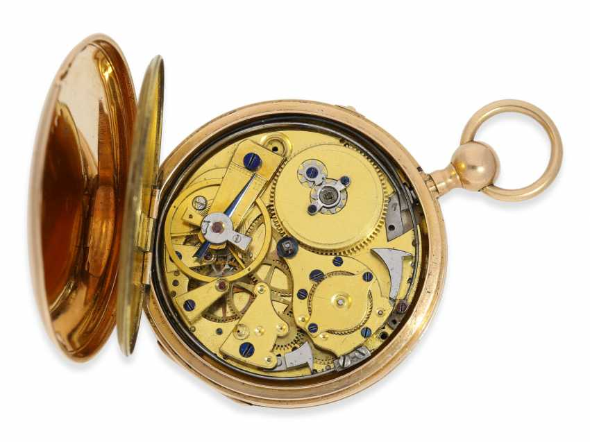 Pocket watch: red-gold Lepine with quarter-hour-Repetition, France around 1820 - photo 3