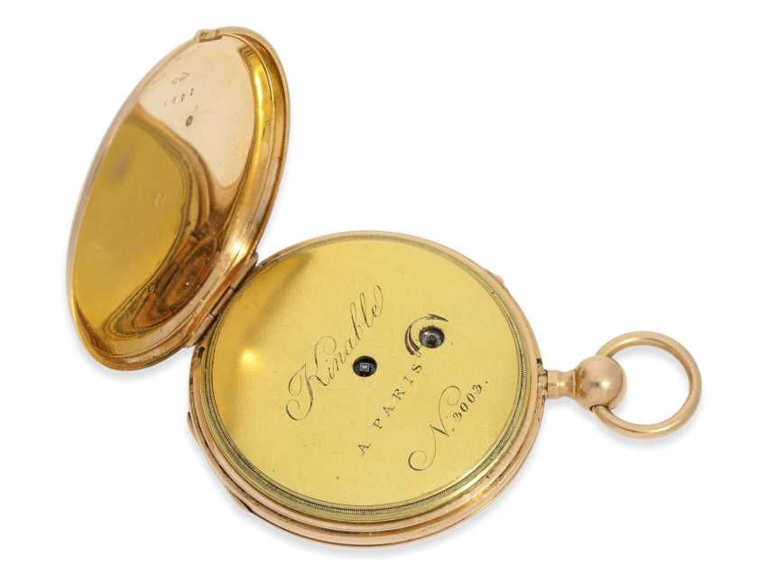 Pocket watch: red-gold Lepine with quarter-hour-Repetition, France around 1820 - photo 4