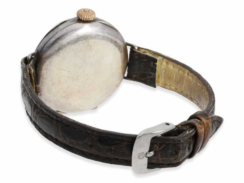 Watch: very early Rolex gents watch from the time around 1915, enamel dial and silver case - photo 2