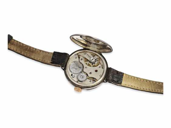 Watch: very early Rolex gents watch from the time around 1915, enamel dial and silver case - photo 3