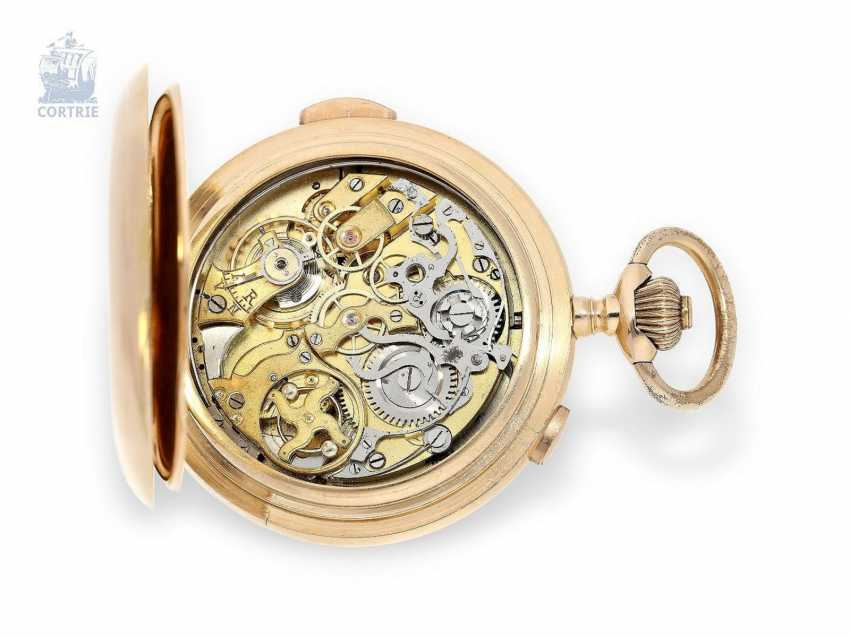 Pocket watch: large red gold Savonnette with Repetition and Chronograph, Audemars Freres No. 151573, supplier to the Russian tsarist house, CA. 1900 - photo 4