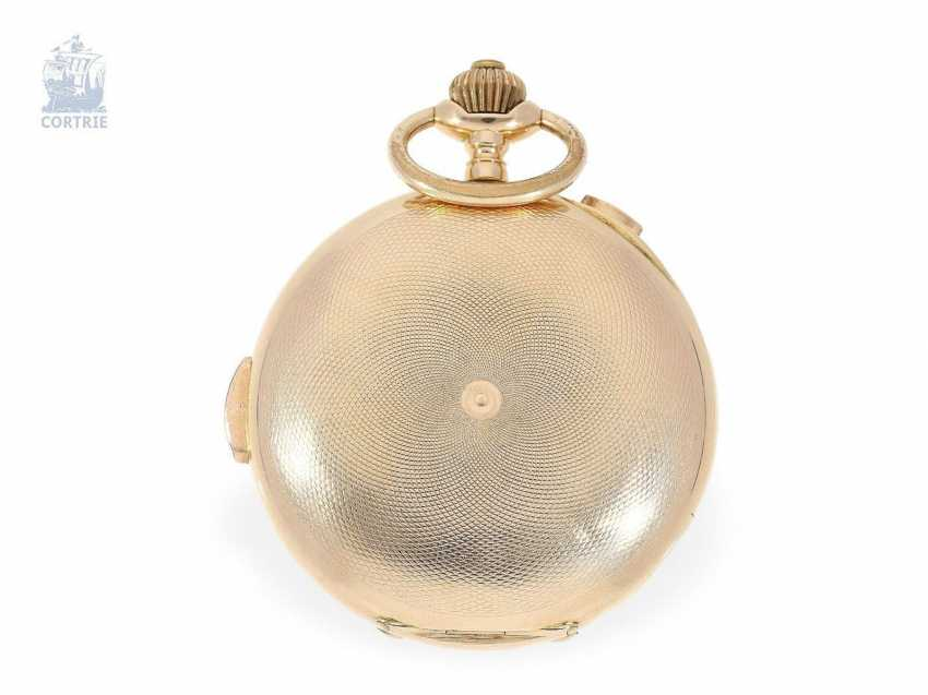 Pocket watch: large red gold Savonnette with Repetition and Chronograph, Audemars Freres No. 151573, supplier to the Russian tsarist house, CA. 1900 - photo 5